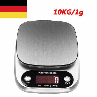 10kg/1g Digitale Küchenwaage Feinwaage Kitchen Scale Haushaltswaage Tischwaage