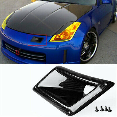 Bumper Air Vent Duct Cover Trim 100% Carbon Fiber Left For Nissan 350Z Z33 03-09 100% Carbon Fiber