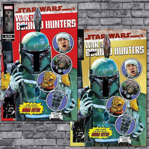 🔥 STAR WARS WAR OF THE BOUNTY HUNTERS ALPHA #1 MIKE MAYHEW RED GOLD VARIANT SET