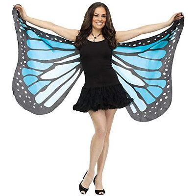 Schmetterlingsflügel Blau Weich Sexy Damen Erwachsene Kostüm - Blauer Schmetterling Flügel Kostüm