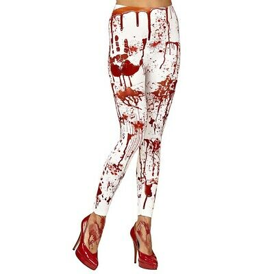 BLUTVERSCHMIERTE LEGGINGS Halloween Damen Blutige Strumpfhose Horror Kostüm - Halloween Leggings