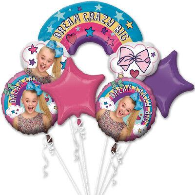 JoJo Siwa Balloon Bouquet ~ Girls Birthday Party Decorations Supplies ~ 5pc