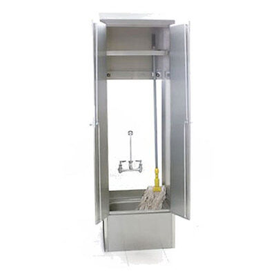 Eagle Group F1916-vscs 25in Stainless Steel Mop Sink Cabinet