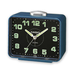 New in box Casio TQ-218-2D Blue Table Top Travel Alarm Clock