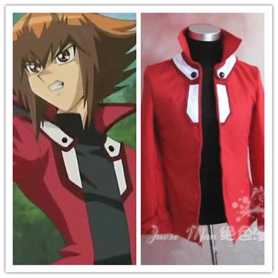 Yu-Gi-Oh! GX Jaden Yuki Red Jacket Coat Top Cosplay Costume Custom Made FF.1520