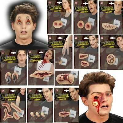 3D Grusel Effekt Make Up Schminke - WUNDEN - Halloween Bruch Riss Narben (Narben Make Up Halloween)