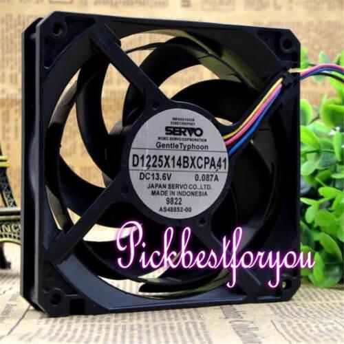 Original SERVO D1225X14BXCPA41 DC 13.6V 0.087A 12CM 4Pin Fan 90Warranty MT100 QL