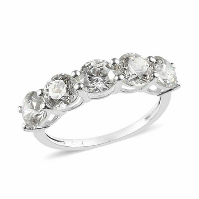 J Francis Five Stone 2.25 Ct Made Swarovski® Zirconia Ring Sterling Silver