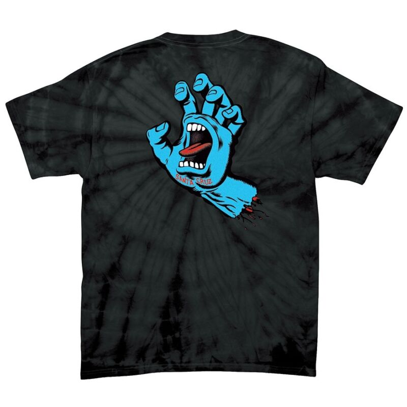 Santa Cruz SCREAMING HAND Skateboard T Shirt SPIDER BLACK LARGE