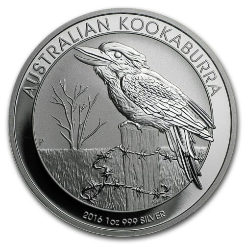 2016 Australia Perth Mint 1 oz Silver .999 Kookaburra  - Fresh From Roll