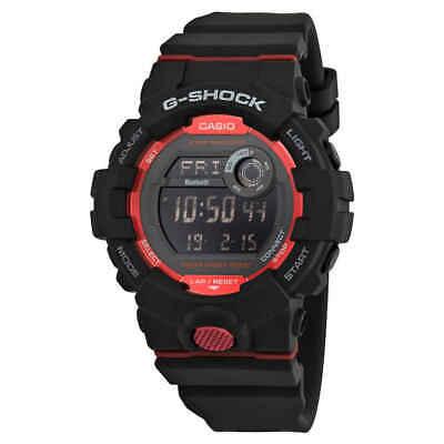 Casio Premier G-Shock Bluetooth G-Squad Digital Black and Red Watch GBD800-1