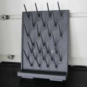 Lab Supply Wall Desk Drying Rack Black Color 27Pegs 211058
