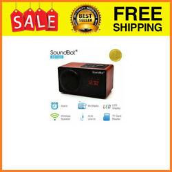 SB1025 Alarm Clock FM Radio Bluetooth Wireless Portable Speaker 76mm 7w