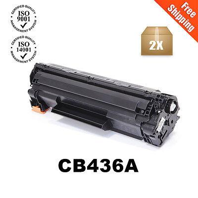 2PK CB436A Generic 36A Toner For HP LaserJet P1505 P1505N M1522N M1522NF  ()