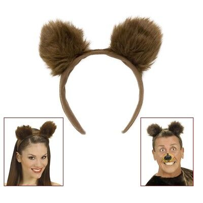 BRAUNE BÄRENOHREN HAARREIF Karneval Bären Ohren Grizzly Tiere Kostüm Party - Kostüm Ohren
