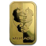 1 oz Gold Rand Refinery Elephant Mirage Bar In Assay APMEXclusive® - SKU #93255