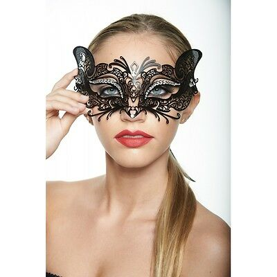 Laser Cut Metal sexy Cat Masquerade Ball Halloween Costume Party Cat woman Mask - Catwoman Mask Halloween Costume