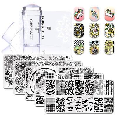 3stk/kit Nagel Stempel Schablone Nail Silikon Stamping Stamper Stempel Nagellack