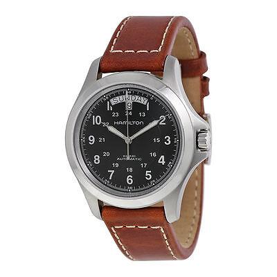 New Hamilton Khaki King Mens Leather Strap Watch H64455533