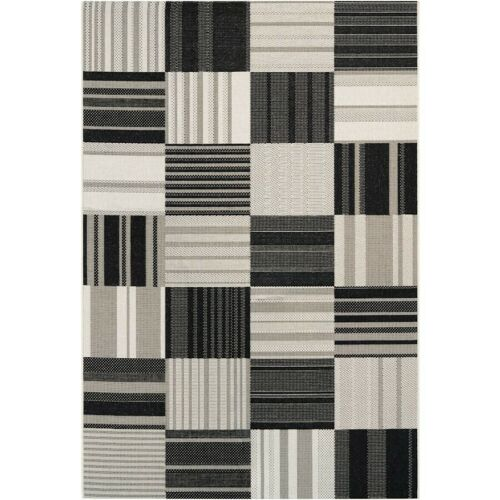 Couristan Afuera Patchwork Onyx & Ivory In/Out Rug