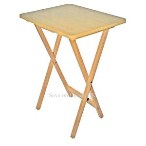 wood wooden folding square travel side small table camping tv hobby garden ebay. Black Bedroom Furniture Sets. Home Design Ideas