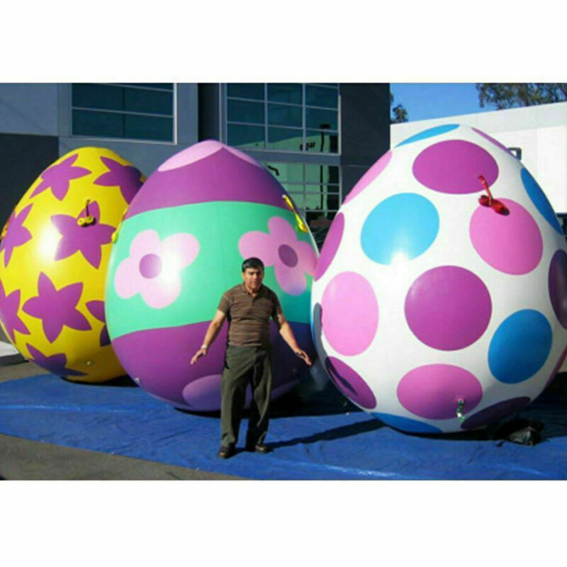 2.2m High Giant Colorful Inflatable Easter Eggs Dinosaur Egg Party Decoration