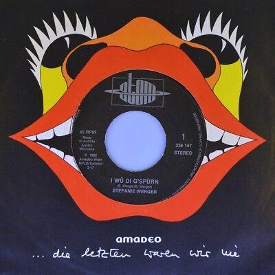 "7"" STEFANIE WERGER I wü di g'spürn / Hob mi gern J.PROKOPETZ Austropop ATOM 1982"