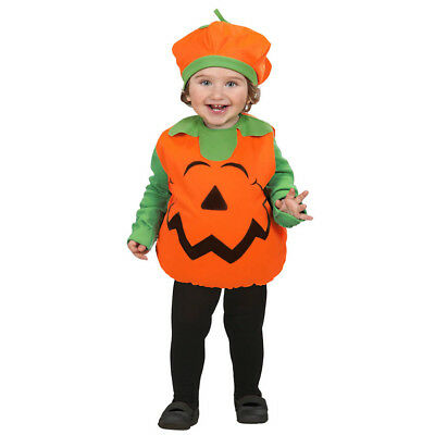 KÜRBIS KOSTÜM KINDER Halloween Karneval Puffy & Hut Kleinkinder Gr. 90-104  (Kleinkind Kürbis Halloween Kostüme)