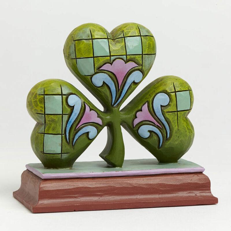 Jim Shore Heartwood Creek Mini Irish Shamrock Clover St. Patricks Day Figurine