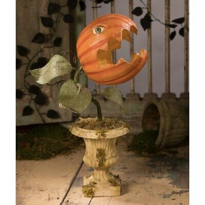 Bethany Lowe - Halloween - Prickly Pumpkin Plant Large Paper Mache - TD8508
