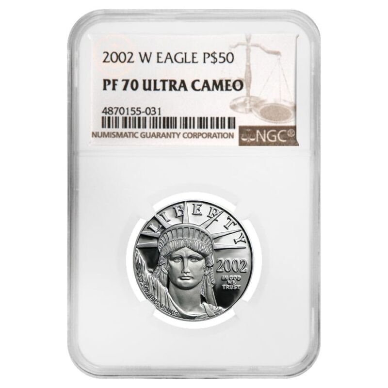 2002 W 1/2 oz $50 Platinum American Eagle Proof Coin NGC PF 70 UCAM
