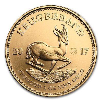 50 Jahre Jubiläums-Krügerrand 1 oz Gold Südafrika 2017 Sonderprägung