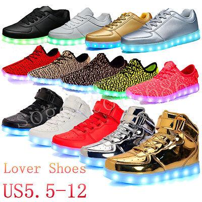 Unisex Men Women LED Light Up Shoes Luminous Trainer Sneaker High Top Shoes - Light Up Shoe