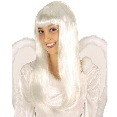 WEIßE ENGELSPERÜCKE Weihnachten Engel Perücke Damen Langhaarperücke Kostüm - Lange Weiße Perücke Kostüm
