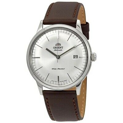 Orient FAC0000EW 2nd Gen. Bambino Version 3 Automatic White Dial Leather Watch