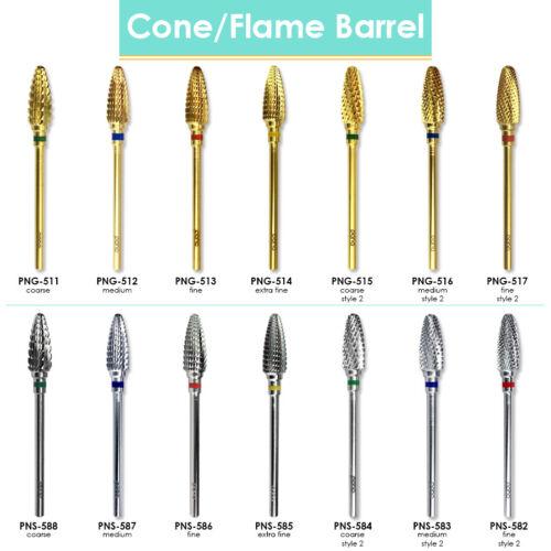 "USA #1 PANA Brand Cone/Flame Shaped  Barrel Nail Carbide Bit - Shank 3/32"""