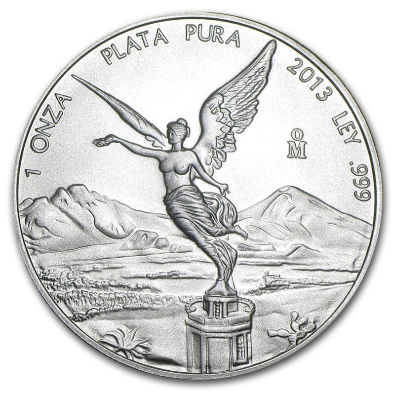 2013 1 oz Silver Libertad Coin  Brilliant Uncirculated