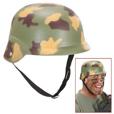 TARNFARBEN STAHLHELM # Soldaten Armee Militär Söldner Tarnhelm - Armee Helm Kostüm