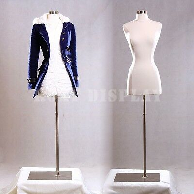 Female Size 2-4 Mannequin Dress Form Hard Dress Form White F24wbs-05