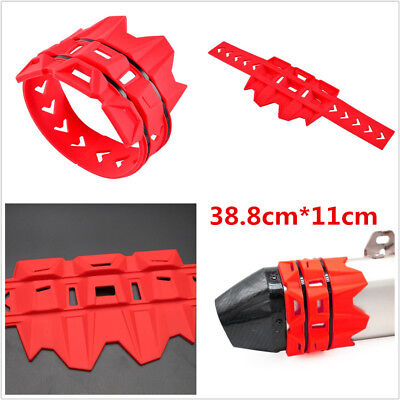 RED EXHAUST MUFFLER SILENCER PROTECTOR GUARD FOR MOTORCYCLES DIRT BIKE