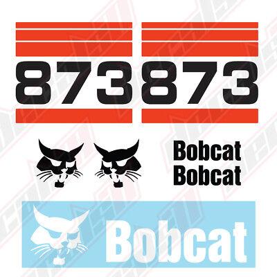 Bobcat 873 Skid Steer Set Vinyl Decal Sticker - Aftermarket