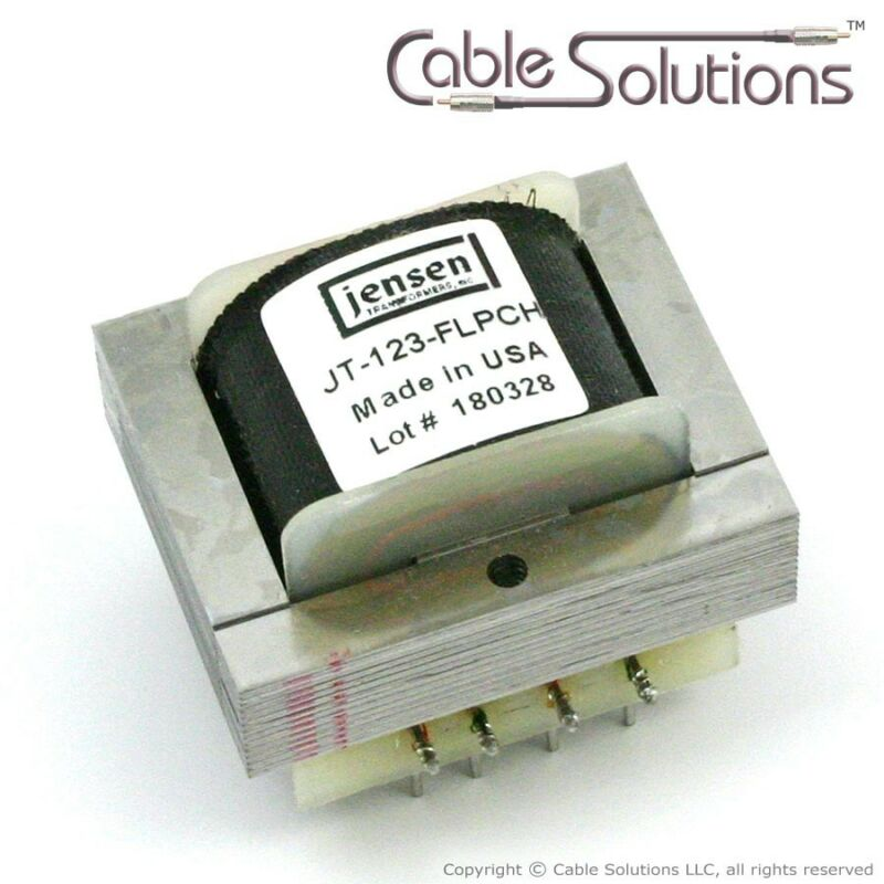 1:1 or 1:2 Line Audio Output Transformer Jensen Transformers JT-123-FLPCH