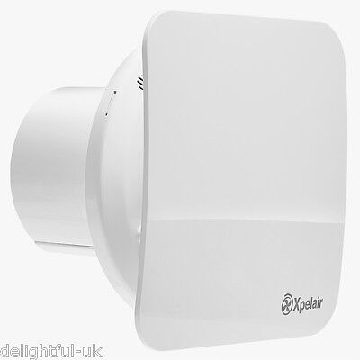 """Xpelair C4S 4"""" Quiet Silent Ghost Bathroom Extractor Fan Square Solid Cover"""