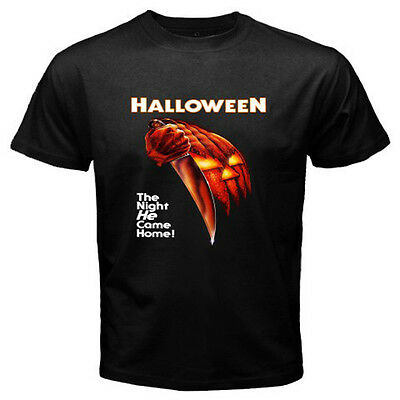 New HALLOWEEN Movie Poster Michael Myers Men's Black T-Shirt Size S to 3XL - New Halloween Movie 3