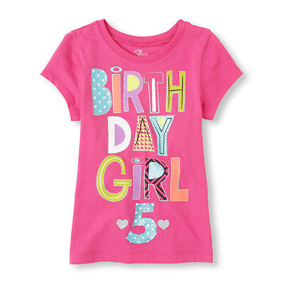 5th Birthday Girl (~NEW~ 5th BIRTHDAY GIRL 5 Years Girls Graphic Shirt 5-6 Small Gift Pink PARTY)