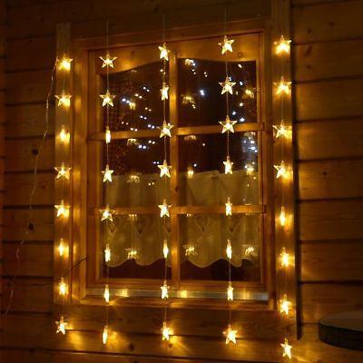 Lichtervorhang 40 Sterne für Fenster Lichterkette LED beleuchtet Weihnachten ()