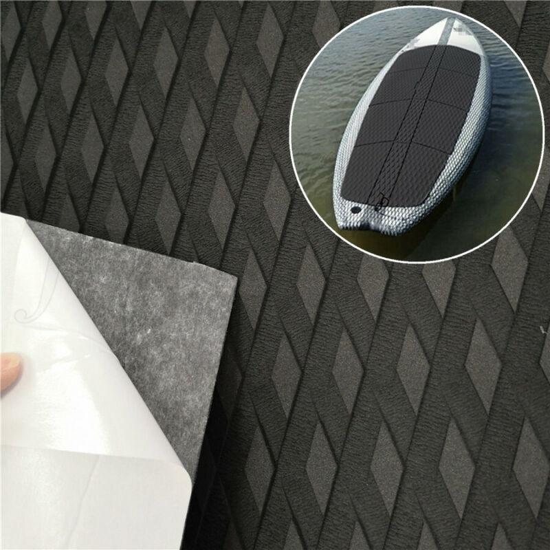 Black Self-adhesive EVA Decking Mat Car Boat SUP Board Nonslip Flooring 220x55cm