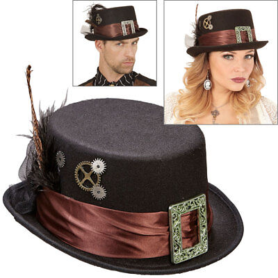 STEAMPUNK ZYLINDER Viktorianischer Wave Gothic Hut Retrolook Kostüm Party - Viktorianischer Hut Kostüm