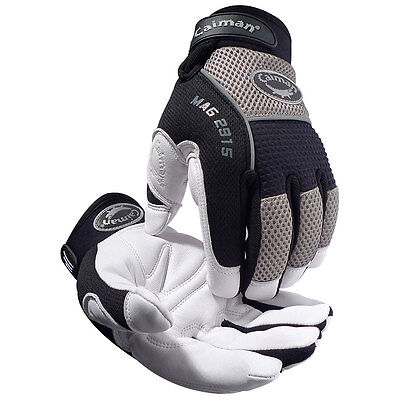 Caiman 2915 2xl White Goat Skin Leather Insulated Heatrac Iii Work Gloves