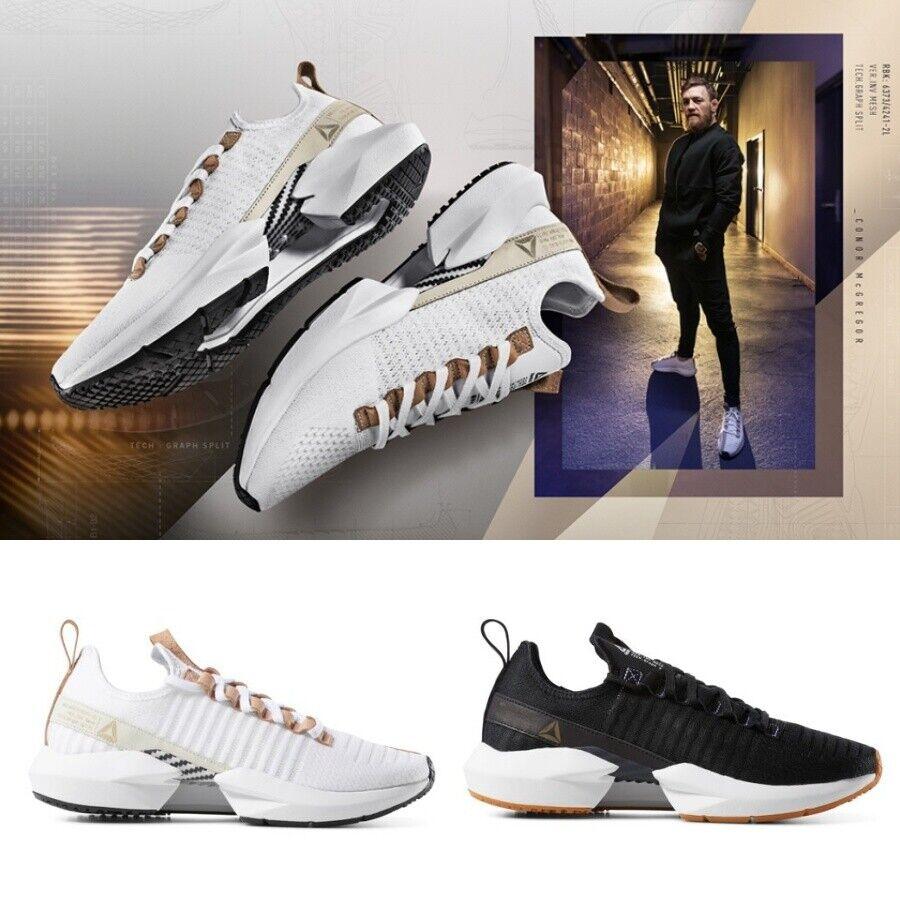 Details about Reebok Sole Fury Lux Shoes Black Beige DV6924 DV6925 Sz4 12 Conor Mcgregor